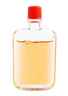 A bottle of safflower oil, which is often used to make natural foundation.