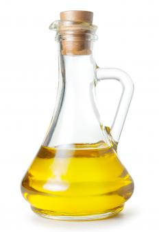 Olive oil, which can be used to dress monk's beard.