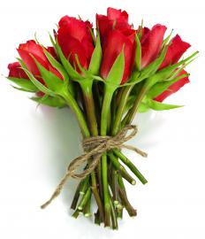 Some people choose red roses, known as symbols of love and passion.