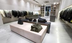 Boutique with cutting-edge clothing.
