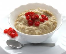 Eating foods with soluble fiber, like oatmeal, can lower cholesterol.
