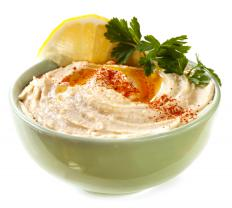 Hummus can be used to replace mayonnaise on a vegan burger.