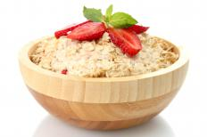 Oatmeal is a source of calcium.