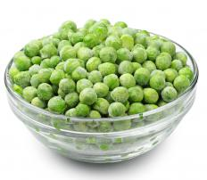 Peas were one of the first basic crops cultivated thousands of years ago.