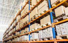 A wholesaler has large warehouses for storage.