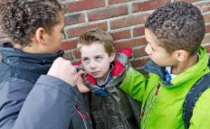 Bullying can occur among school children.