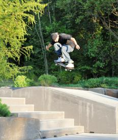 Curb cuts are often convenient for people on skateboards.