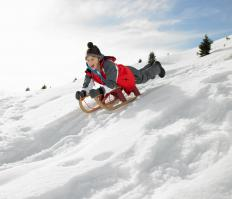 Snow sleds are usually mounted on runners.
