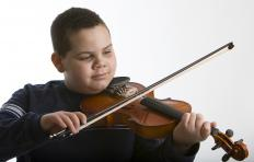 Children typically play smaller violins.