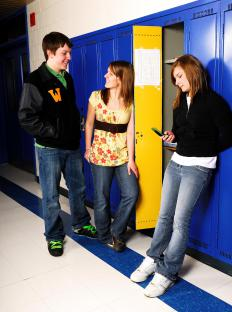 A high school counselor offers helpful services to high school students.