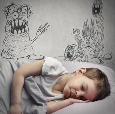 Nightmares might frequently trouble spirited children.