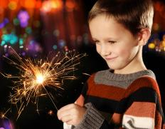 A fiber-optic wand may be a good substitute for sparklers, a handheld firework that can be dangerous for children.
