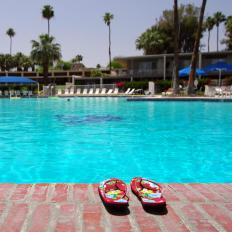 Swimming pools are among the typical amenities at a couples resort.