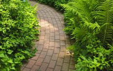 Brick pavers are often used in garden walkways.