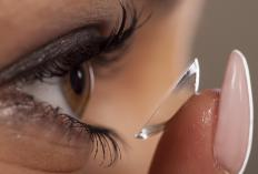 Saliva may be used as a lubricant for contacts when solution is not available.