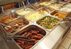 Servers may be responsible for making sure buffets are fully stocked with food.