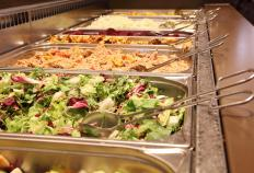 Food at buffets in restaurants are usually served in hot cupboards.