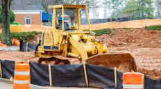 Construction companies may install silt fences before starting work on a site.