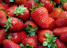 Strawberries are commonly used as desert crepe fillings.