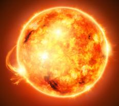The sun's energy occurs mainly in the form of electromagnetic radiation.
