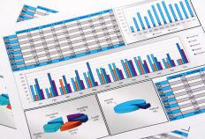 A company's financial statements are broken down in a ratio analysis report.