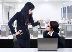 An employee faced with a bad boss might be able to turn to a human relations department for help.