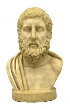 Likenesses of ancient philosophers often were carved in marble or stone.