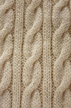 A higher ply yarn will show more definition in a cable knit pattern.