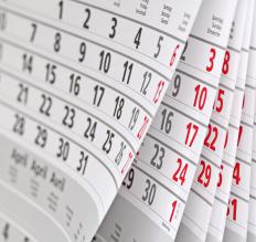 Calendars may serve as a payment reminder system.