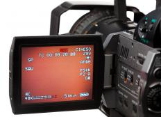 A video magnifier can be used to play video captured on a camcorder on a large screen.