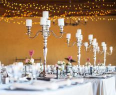 Candelabras may be used to celebrate special occasions.
