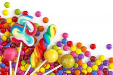 Food additives, like dyes and corn syrup, are often found in candy.