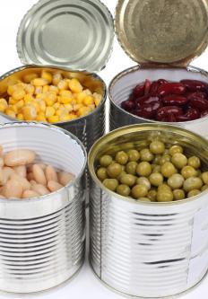 Volunteer tourists may bring canned goods to needy communities.