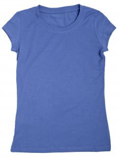 A woman's t-shirt with cap sleeves.