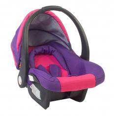 Baby car seats are generally only used with forward-facing car seats, as opposed to rear-facing car seats.