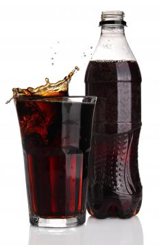 A diet soda containing aspartame, which is not safe for those with PKU.