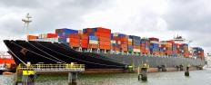 Shipping containers can be found in many ports around the world.