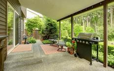 In warm climes, a relatively open porch or patio can be used at least three seasons out of the year.