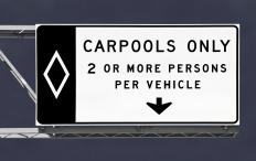 Carpooling can help reduce air pollution.