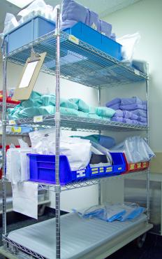 Sterile drapes are part of the standard supply cart at most medical facilities.