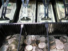 Loss prevention managers may perform an audit of a cash drawer to prevent theft.