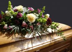 A casket often features a more tapered shape.