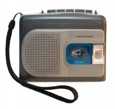 Cassette recorders have been used to record speech and music.