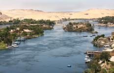 The Cataracts of the Nile are sections of the river that, like the one at Aswan, are difficult to navigate.