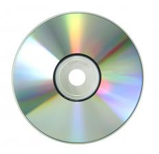 A burnable DVD, which is used in converting VHS to digital.