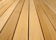 Cedar can be a good choice for a wooden walkway.