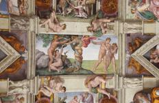 The Sistine Chapel's ceiling holds perhaps the most famous fresco paintings.