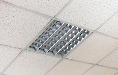 A suspended ceiling can be used to hide installed ducts.