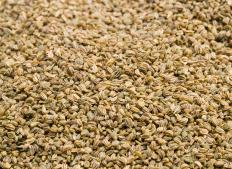 Used as an herb in a number of dishes, celery seed is tiny and oval shaped.
