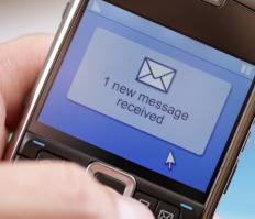 On some phones, anonymous emails texts will appear like a normal text message.